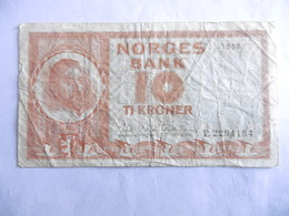 NORVEGE-BILLET 10 KRONER-1968-etat B-CIRCULE - Norvège