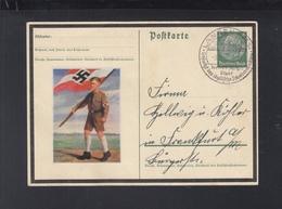 Dt. Reich GSK 1935 Langen Hessen Vignette Hitlerjugend - Germania