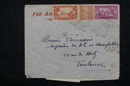SÉNÉGAL - Enveloppe Pour Toulouse Par Avion En 1936 , Affranchissement Plaisant , Oblitération à Voir - L 22817 - Sénégal (1887-1944)