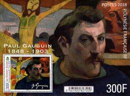 French Polynesia - 2018 - Paul Gauguin - Young Christ - Mint Souvenir Sheet With Varnish - Polynésie Française