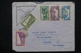 SÉNÉGAL - Enveloppe De Dakar Pour Toulouse Par Avion En 1941 , Affranchissement Plaisant - L 22818 - Sénégal (1887-1944)