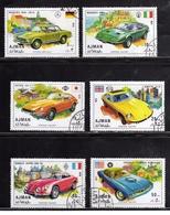 UNITED ARAB EMIRATES AJMAN 1971 OLD VINTAGE CARS AUTO D'EPOCA COMPLETE SET SERIE COMPLETA MNH - Ajman