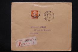 FRANCE - Type Pasteur Caisse D 'Amortissement Sur Enveloppe De Angers En Recommandé Pour Toulouse En 1928 - L 22823 - Marcophilie (Lettres)