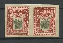 Estland Estonia 1920 Michel 21 In Pair MNH - Estland
