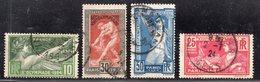 N° 183 à 186 Avec Oblitération Cachet à Date D'Epoque De 1924  TTB - France