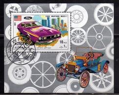 UNITED ARAB EMIRATES AJMAN 1971 OLD VINTAGE CARS AUTO D'EPOCA FORD MUSTANG MACH 1 BLOCK SHEET BLOCCO BLOC MNH - Ajman