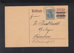 Dt. Reich GSK Mit Zudruck Memmingen 1921 - Germania