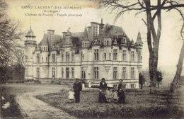 Cpa St Laurent Des Hommes Château De Fourny, Façade Principale. - Altri Comuni