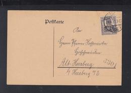 Dt. Reich PK 1920 Städtisches Weißen-Amt Berlin Lochung Perfin - Deutschland