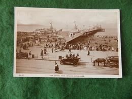 VINTAGE UK: WESTON SUPER MARE Grand Pier Sepia Car 1922 HJ - Weston-Super-Mare
