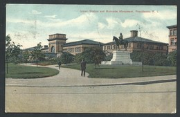 +++ CPA - Amérique - Etats Unis - Rhode Island - PROVIDENCE - Union Station And Burnside Monument  // - Providence