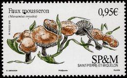 St. Pierre & Miquelon - 2018 - Mushrooms - Scotch Bonnet - Marasmius Oreades - Mint Stamp - Ongebruikt