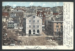 +++ CPA - Amérique - Etats Unis - Rhode Island - PROVIDENCE - Market Square In 1844 - Polychrome  // - Providence