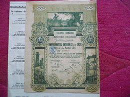 ROUMANIE / ROMANIA : : BOND   De 1000 LEI  EMPRUNT 5  1920  Nombreux Coupons - Actions & Titres