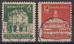 SBZ Ost-Sachsen 64-65 A A, Gestempelt, Wiederaufbau 1946 - Zone Soviétique
