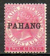 MALAISIE - PAHANG - (Protectorat Britannique) - 1890-91 - N° 1a - 2 C. Rose (Type II) - (Victoria) - Pahang