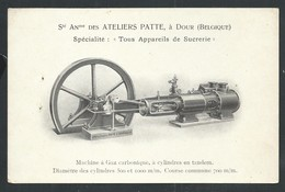 +++ CPA - Carte Publicitaire - Publicité - DOUR - Ateliers Patte - Appareils Sucrerie Machine Usine Industrie  // - Dour