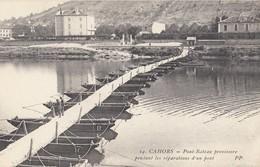 CAHORS: Pont-Bateau Provisoire Pendant Les Réparations D'un Pont - Cahors