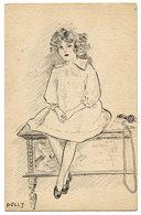 Jolie Fillette . Dessin Fait Main . Pretty Girl . Handmade Drawing . Hübsches Mädchen . Handgefertigte Zeichnung - Dessins D'enfants