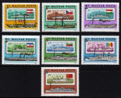 UNGARN 1981 ** Raddampfer & Flaggen - MiNr.3514-3520 Kompletter Satz MNH - Schiffe