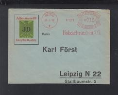 Dt. Reich Brief 1932 Neuss Holzschrauben AG Freistempel - Deutschland