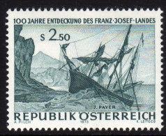 ÖSTERREICH 1973 ** Admiral Tegetthoff - Entdeckung Des Franz Josef Landes - MNH - Schiffe