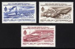 ÖSTERREICH 1979 ** Erste Donau Dampfschiffahrts Gesellschaft - Kompletter Satz MNH - Schiffe