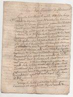 Vieux Papier De 4 Pages 1786 - Manuscrits