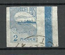 ESTLAND Estonia 1920 Michel 17 O + Sheet Margin Color Line - Estonie