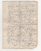 Vieux Papier 1680 - Manuscrits