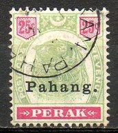 MALAISIE - PAHANG - (Protectorat Britannique) - 1898-99 - N° 16 - 25 C. Vert Et Carmin - (Tigre) - Pahang