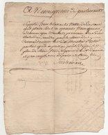 Vieux Papier 1788 - Manuscrits