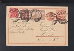 Dt. Reich GSK Mit ZuF 1922 Langen Nach Wiesbaden - Deutschland