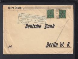 Dt. Reich Dt. Bank Brief 1922 MeF - Deutschland