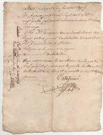 Vieux Papier 1784 - Manuscrits