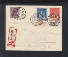 Dt. Reich R-Brief Gera 1922 - Deutschland