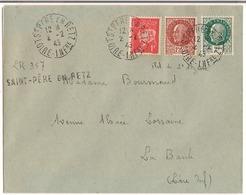 Lettre Saint- Père- En -Retz 1945 ( Loire Inférieure ) ( Ilot De Saint Nazaire ) Destination La Baule - Marcophilie (Lettres)
