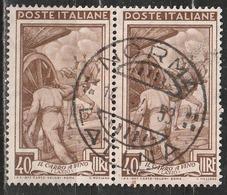 Timbro Tondo NORMA - LATINA - 14-4-53 - 40 Lire Coppia, Italia Al Lavoro - 1946-.. République