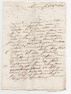Lettre Tournon 1820 - Manuscrits