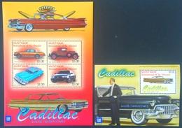 # Mustique 2003**Mi.22-26 Cars-Cadillac , MNH [14;125] - Autos