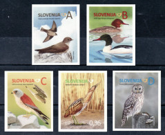 2257/ Slowenien Slovenia 2014 Mi.No. 1058 - 1062 ** MNH Bird Of Prey Vogel Ural Owl Habichtskauz Eurasian Crag Martin - Vögel