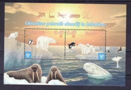 1324/ Slowenien Slovenia 2009 Mi.No. 713 - 714 ** MNH Block Climate Changes Polar Bear Eisbär Ours Polaire Animal Tier - Slowenien