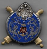 5e Régiment Artillerie Coloniale - Insigne émaillé Drago Béranger Déposé - Armée De Terre