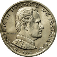 Monnaie, Monaco, Rainier III, Franc, 1974, SUP, Nickel, Gadoury:MC 149, KM:140 - Monaco
