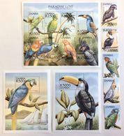 Zambia 2000** Mi.1178-82,klb.1183-90, Bl.76,77 Parrots MNH [20;146] - Parrots