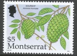 Montserrat. 2001 Caribbean Fruits. $5 MNH SG 1208 - Montserrat