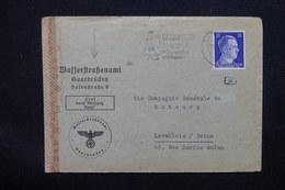 ALLEMAGNE - Enveloppe Commerciale Pour La France En 1943 Avec Contrôle Postal - L 22846 - Allemagne