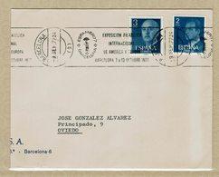 ESPAGNE 1977 LETTRE AVEC OBLITERATION EXPAMER 77 - Mary Poppins - Exposiciones Filatélicas