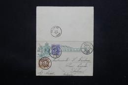 PAYS BAS - Entier Postal + Complément De Breda Pour La Belgique En 1899 - L 22848 - Entiers Postaux
