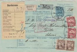 Hongrie Bulletin D'expédition Pour La Suisse 1901 - Marcophilie